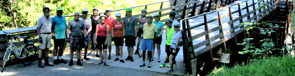 Cyclists at the Kinsol Trestle